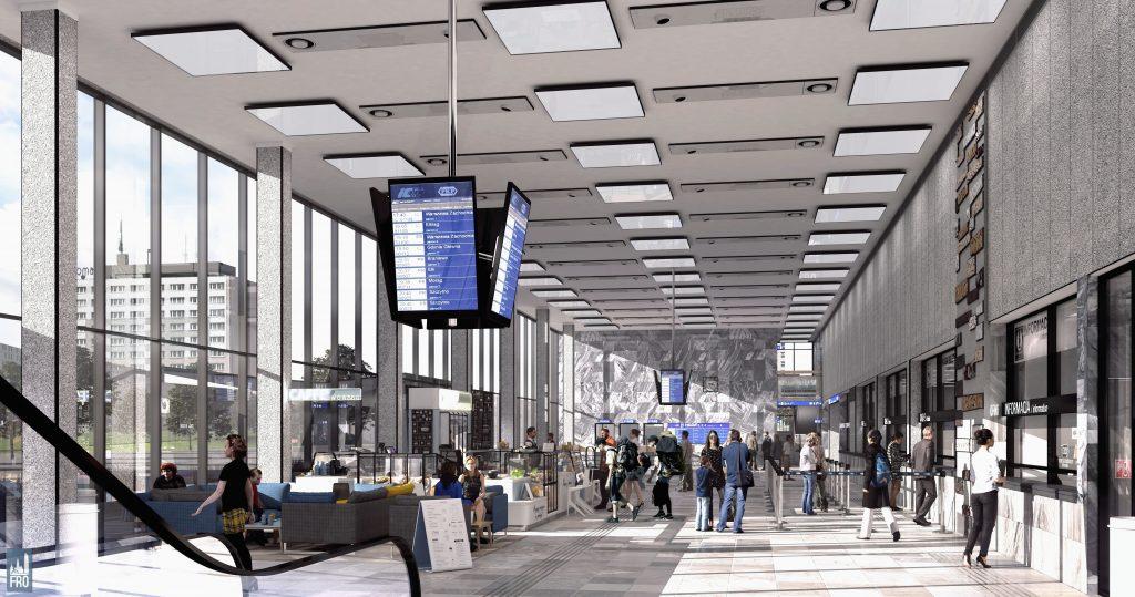 Dworzec Główny w Olsztynie - remont - wizualizacja części PKP
