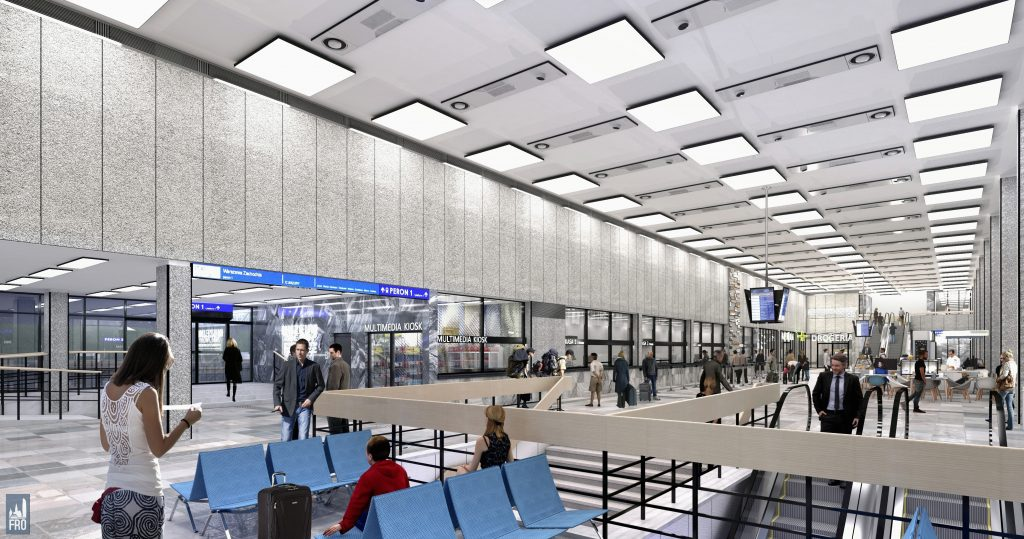 Dworzec Olsztyn Główny - remont - hala - wizualizacja - PKP - modernizm - zabytek
