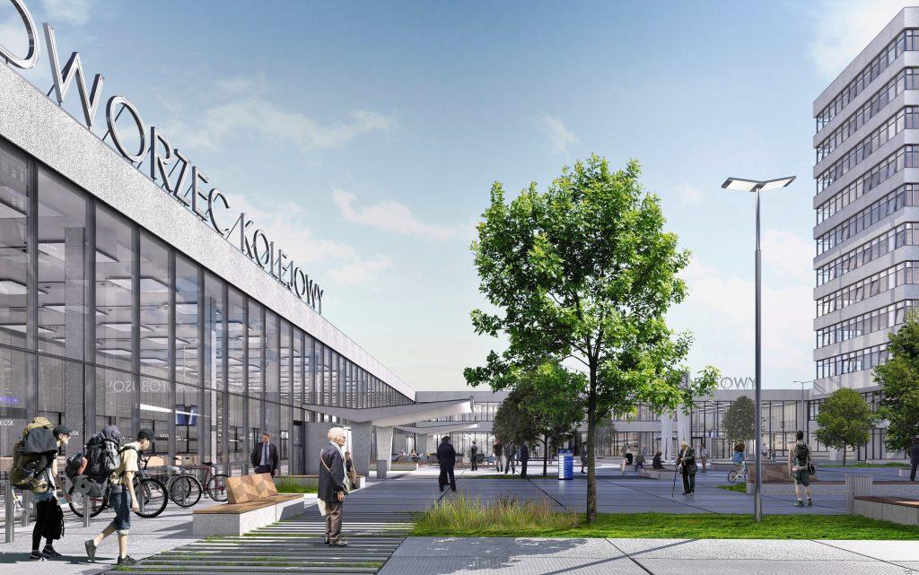 Dworzec - Olsztyn Główny - remont - wizualizacja - modernizm - zabytek - plac - PKP
